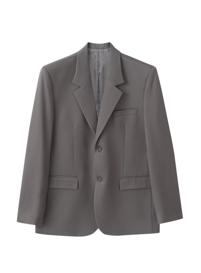 Conscious Single Blazer (Comfort Fit) - Greyish Cacao