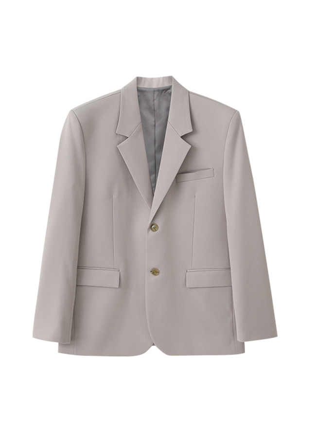 Conscious Single Blazer (Comfort Fit) - Pearl