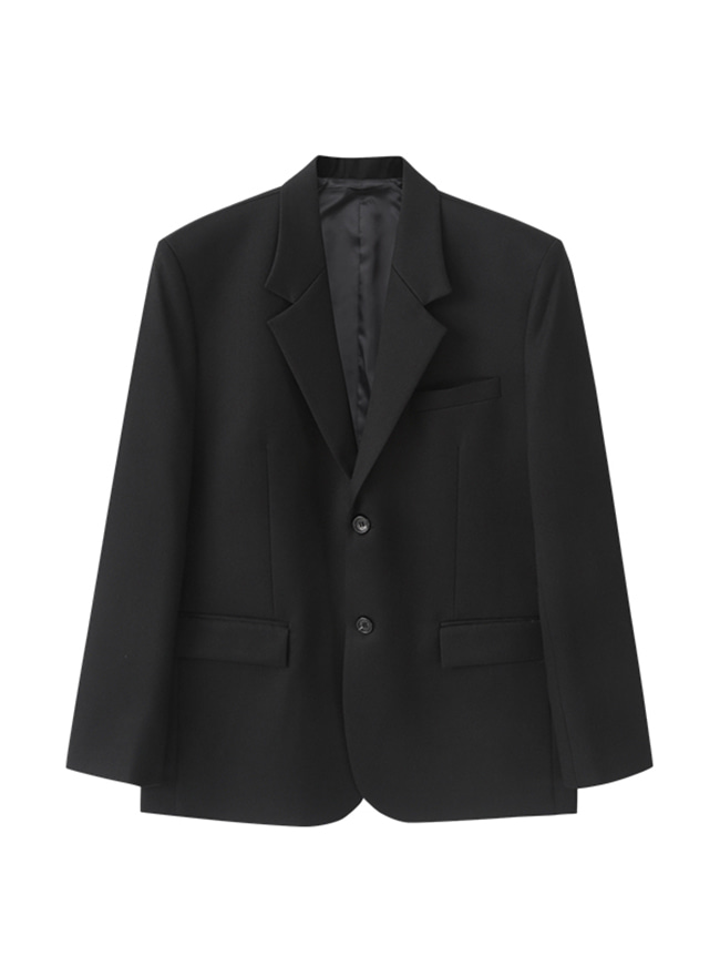 Conscious Single Blazer (Comfort Fit) - Black